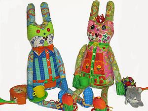 Закрыт аукцион с нуля на чудесных лоскутных зайцев! | Ярмарка Мастеров - ручная работа, handmade
