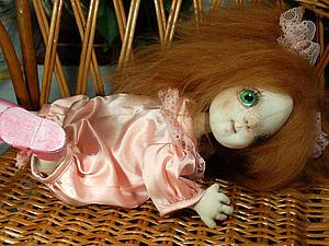 Текстильный шарнирный пупс Алиса. Аукцион! | Ярмарка Мастеров - ручная работа, handmade