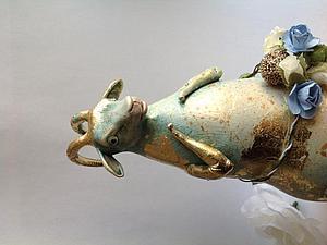 Коза большая к  Новому году! | Ярмарка Мастеров - ручная работа, handmade