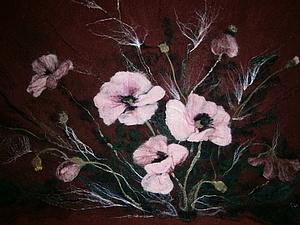 Создаем из шерсти панно «Цветы». Ярмарка Мастеров - ручная работа, handmade.