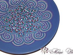 Точечная роспись Point-to-point - Тарелка | Ярмарка Мастеров - ручная работа, handmade