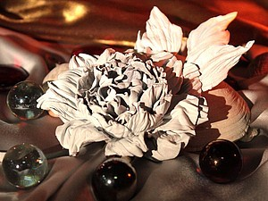 Мастер-класс по цветку из кожи | Ярмарка Мастеров - ручная работа, handmade