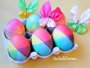 Два необычных способа окрашивания яиц к Пасхе. Ярмарка Мастеров - ручная работа, handmade.
