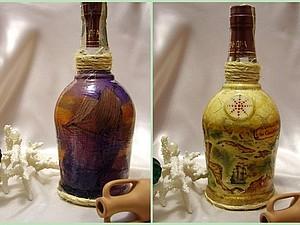 Мастер-класс по декорированию бутылки «В поисках забытых сокровищ». Ярмарка Мастеров - ручная работа, handmade.
