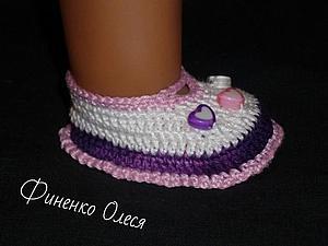 Пинетки туфельки для Беби бон | Ярмарка Мастеров - ручная работа, handmade