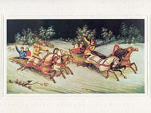 Советские новогодние открытки в народном стиле | Ярмарка Мастеров - ручная работа, handmade