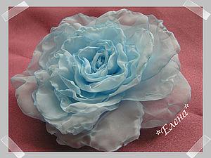 Мягкая Роза из вуали. Цветы из ткани. Цветоделие. | Ярмарка Мастеров - ручная работа, handmade