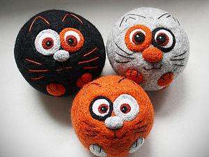 Котомячики - сухое валяние игрушки | Ярмарка Мастеров - ручная работа, handmade