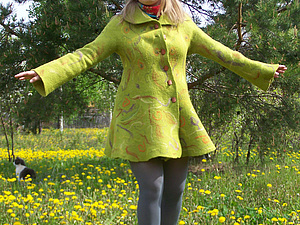 Первое войлочное пальто   Ярмарка Мастеров - ручная работа, handmade
