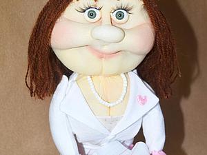Мастер-класс: забавная кукла «Врач» из колготок. Ярмарка Мастеров - ручная работа, handmade.