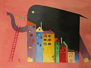 Слоны на комоде или у каждого есть свой дом.   Ярмарка Мастеров - ручная работа, handmade