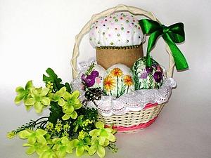 Шьём пасхальный кулич и украшаем вышивкой текстильные яйца. Ярмарка Мастеров - ручная работа, handmade.