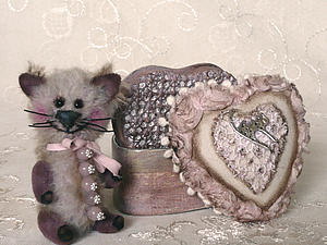 Котейка Розовый Кварц! Игольница! Дополнительные Фото! | Ярмарка Мастеров - ручная работа, handmade