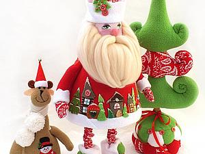 Шьем Деда Мороза из флиса | Ярмарка Мастеров - ручная работа, handmade