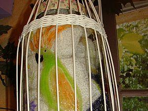 Зеленый попугай против серой моли. | Ярмарка Мастеров - ручная работа, handmade