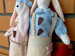 Шьем милых зайцев-неразлучников в стиле тильда. Ярмарка Мастеров - ручная работа, handmade.