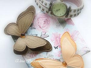 Бонус Мк!!! Брошь из кожи бабочка   Ярмарка Мастеров - ручная работа, handmade