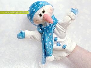 МК рукавичка для кукольного театра- Снеговик!!!. Ярмарка Мастеров - ручная работа, handmade.
