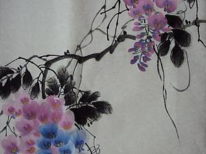 Китайская традиционная живопись. Мастер-класс. Картина за одно занятие. Глициния   Ярмарка Мастеров - ручная работа, handmade