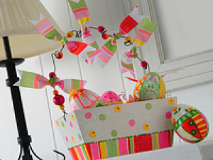 Пасхальная корзина с яйцами. Ярмарка Мастеров - ручная работа, handmade.