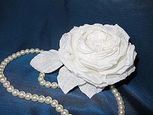 Мастер-класс по шелковой флористике. Роза Староанглийская, свадебный цветок.   Ярмарка Мастеров - ручная работа, handmade