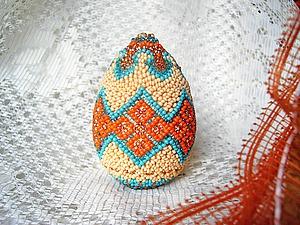 Готовимся к Пасхе: оплетаем бисером деревянную заготовку «яйцо». Ярмарка Мастеров - ручная работа, handmade.