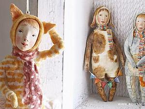 Детки из ваты в костюмах зверей (2 занятия) | Ярмарка Мастеров - ручная работа, handmade