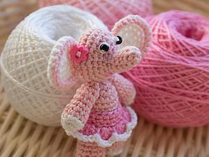 Вяжем миниатюрную розовую слоняшку. Ярмарка Мастеров - ручная работа, handmade.