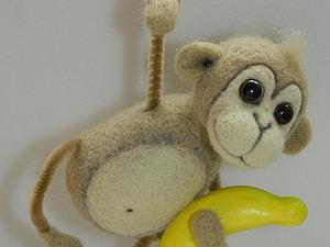 Валяем симпатичную обезьянку — символ 2016 года. Ярмарка Мастеров - ручная работа, handmade.