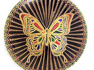 Декорируем тарелку «Бабочка» | Ярмарка Мастеров - ручная работа, handmade