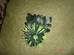 Цветы из кожи. Хризантема | Ярмарка Мастеров - ручная работа, handmade