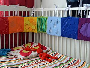 Шьем развивающий бортик на детскую кроватку   Ярмарка Мастеров - ручная работа, handmade
