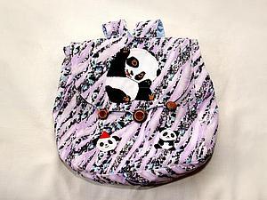 Как панда появился на рюкзачке. | Ярмарка Мастеров - ручная работа, handmade