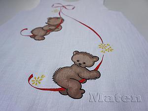 Роспись детского льняного платья. Ярмарка Мастеров - ручная работа, handmade.