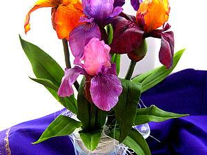 Цветы из полимерной глины: ИРИС ( полноразмерный цветок)   Ярмарка Мастеров - ручная работа, handmade