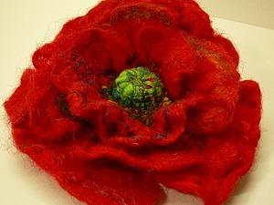 МК  Брошь -цветок валяние с нуля | Ярмарка Мастеров - ручная работа, handmade