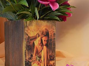 МК  деревянная ваза