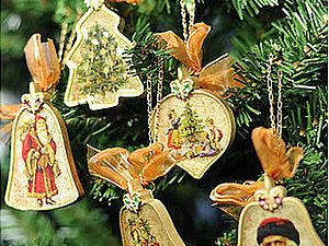 МК по декупажу. Новогодние игрушки - 3 вида поверхностей. | Ярмарка Мастеров - ручная работа, handmade