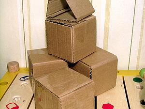 Мастер класс, кубики из картона.. Ярмарка Мастеров - ручная работа, handmade.