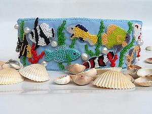 Создаем браслет «Обитатели кораллового рифа». Ярмарка Мастеров - ручная работа, handmade.