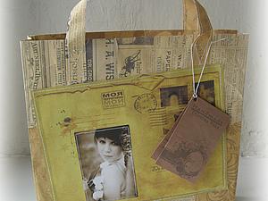 Креативная упаковка или как я шила бумажный пакет))) | Ярмарка Мастеров - ручная работа, handmade