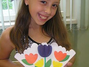 Делаем открытку «Тюльпаны» вместе с ребенком. Ярмарка Мастеров - ручная работа, handmade.