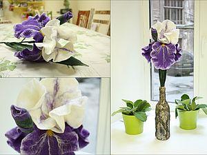 Валяние цветов на каркасе. | Ярмарка Мастеров - ручная работа, handmade