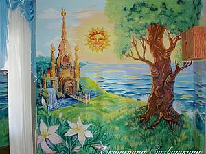 Настенная роспись и рельеф из шпаклевки. Ярмарка Мастеров - ручная работа, handmade.