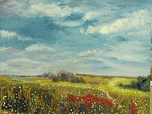 Рисуем цветы в пейзаже с нуля! | Ярмарка Мастеров - ручная работа, handmade