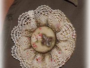 Текстильная брошь или полчаса для себя. Ярмарка Мастеров - ручная работа, handmade.