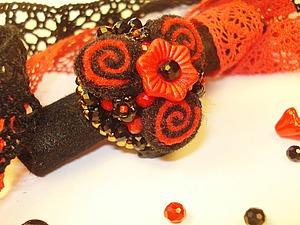 Как сделать фетровое кольцо «Фламенко» за 2 часа. Ярмарка Мастеров - ручная работа, handmade.