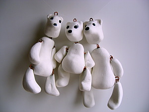 Любимые, что не со мной! Три медведя. Белые. | Ярмарка Мастеров - ручная работа, handmade