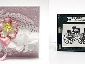 Скрапбукинг. Мужская и женская открытка | Ярмарка Мастеров - ручная работа, handmade