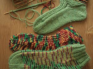Вяжем носки   Ярмарка Мастеров - ручная работа, handmade